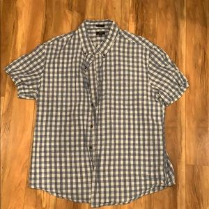 J Crew Checkered Button Up